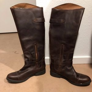 Lucky Brand women's leather boots.